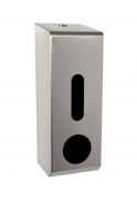 3 Roll Toilet Roll Dispenser - Brushed Stainless Steel