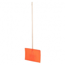 Snow Pusher with wooden handle